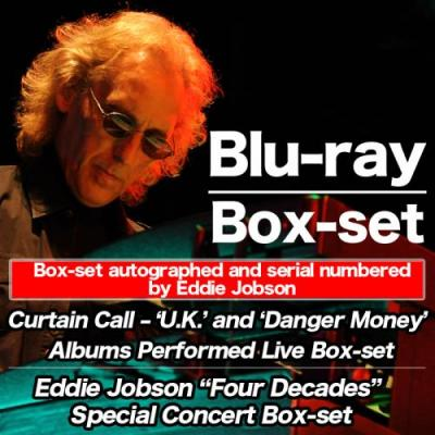 "Eddie Jobson ~ Curtain Call - 'U.K.' and 'Danger Money'& Eddie Jobson ""Four Decades"" Special Concert【Blu-ray / 2 Box-set】"