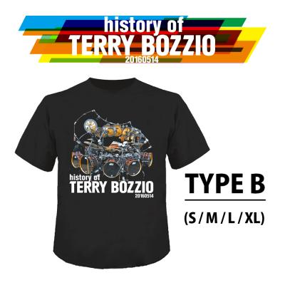 """History Of Terry Bozzio"" Official T-Shirt TYPE B( S / M / L / XL )"