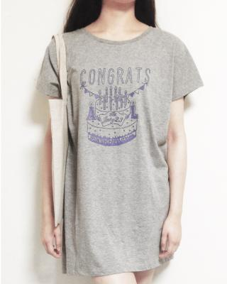 ALvino Naked Live 「Congrats」 チュニック (7/2限定 heather gray×blue)